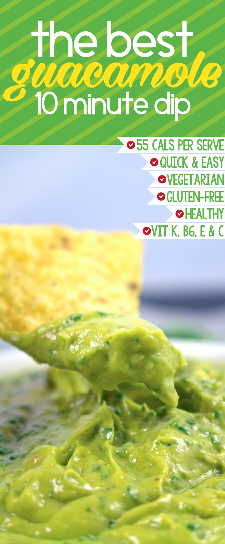 Best Guacamole Recipe - This is by far the BEST guacamole dip I've made, super easy and healthy (takes only 10mins) OMG SO GOOD!!