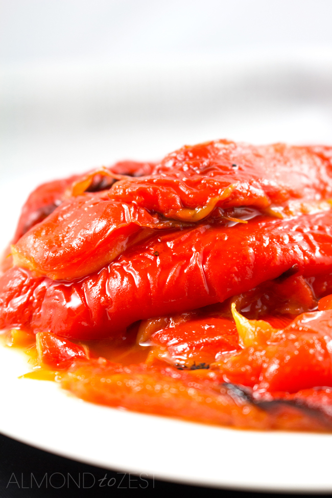 Roasted Red Bell Peppers - Why waste $ on jar peppers? EASY! Keeps 4 days in fridge & 2 weeks in olive oil!