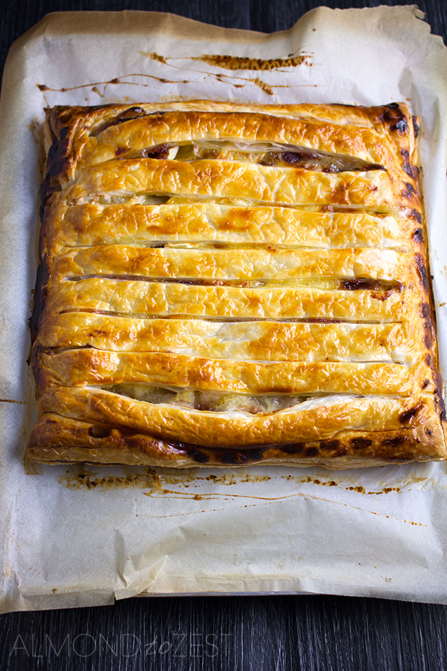 Chicken, Cranberry and Brie Pie