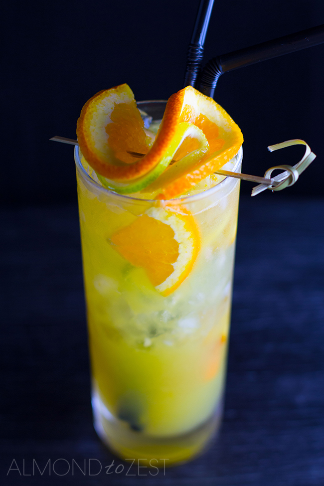 Orange Spattered Mule Cocktail
