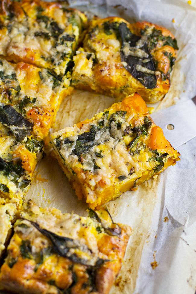 Roast Pumpkin and Kale Frittata with Crispy Sage