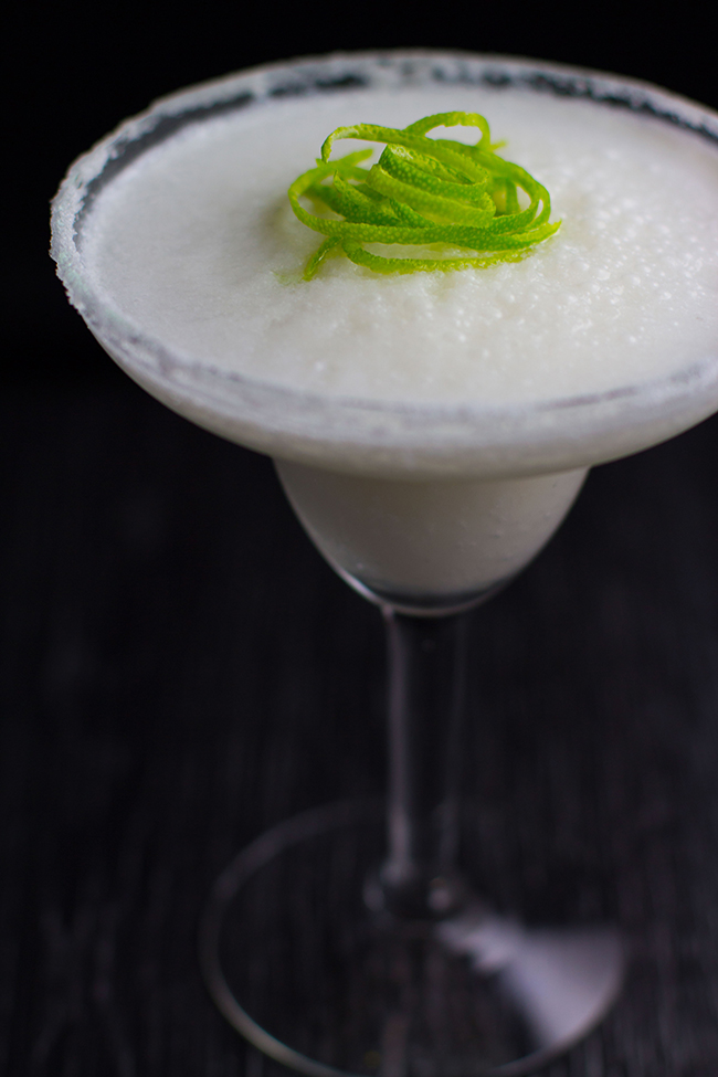 Creamy Coconut and Lime Frozen Margaritas
