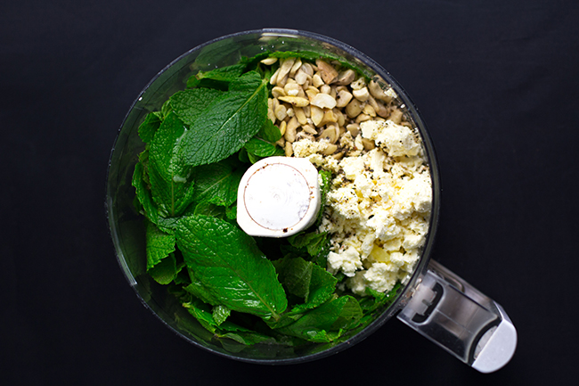 Mint and Feta Pesto