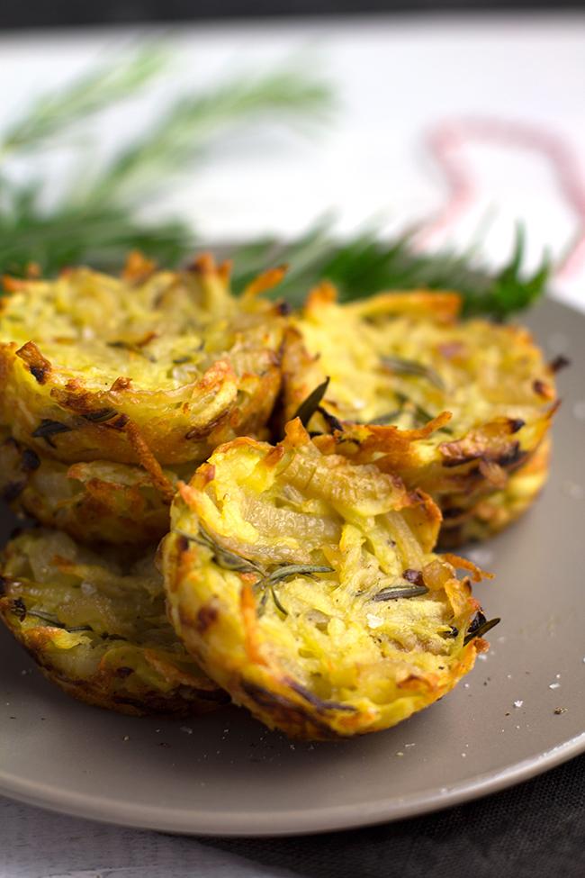 Potato, Onion and Rosemary Hash Cakes