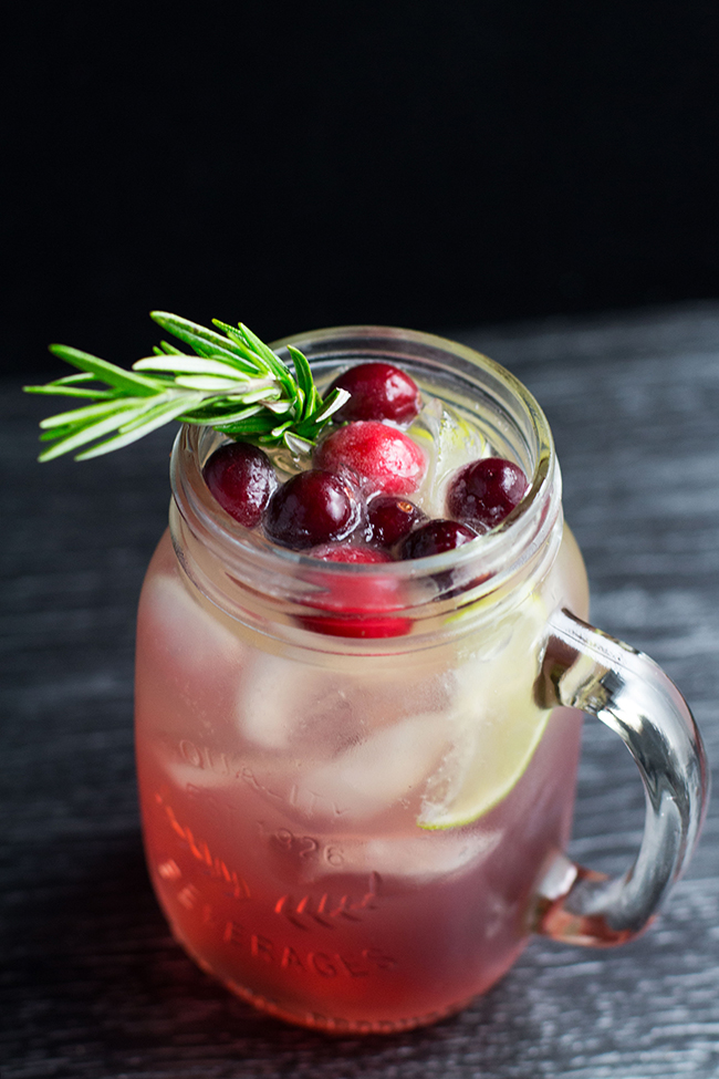 Cranberry and Rosemary Christmas Mule