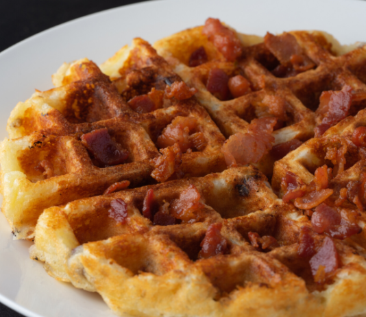 Low-Carb Bacon Waffles